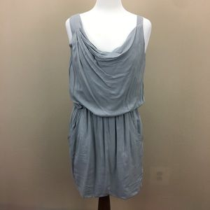 Theory Grey Draped Dress